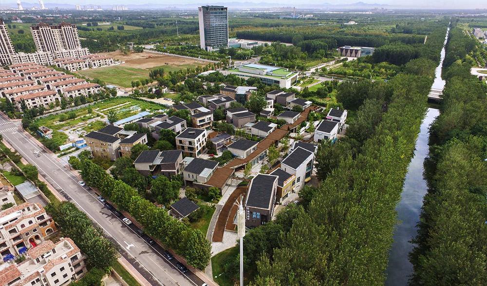 北京潮白河孔雀城创意水街